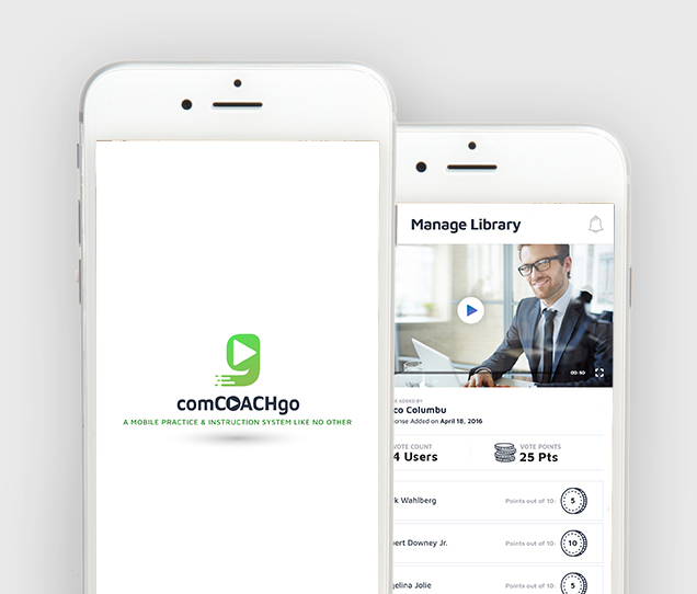 comCoachGo Mobile Web Design