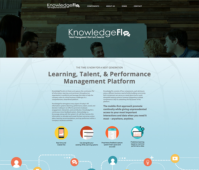 knowledgeflo website design