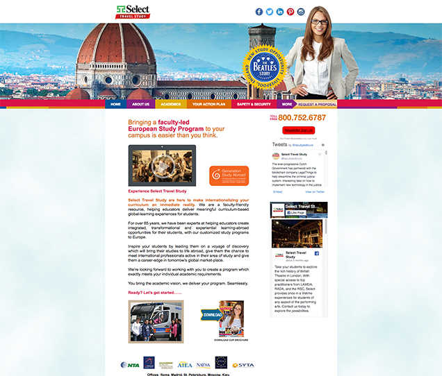 Select Travels Mobile Web Design