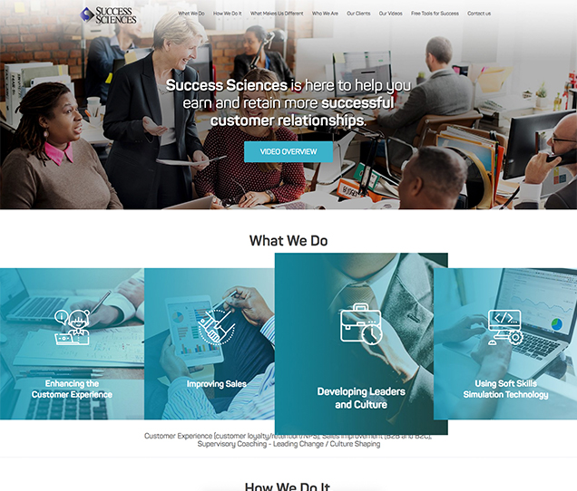 success sciences website design