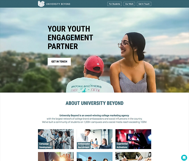 University Beyond Website Design