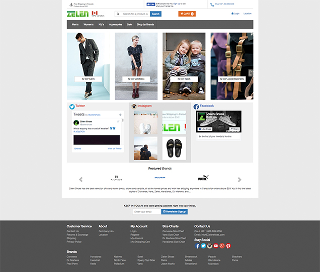 Zelen Shoes Web Commerce
